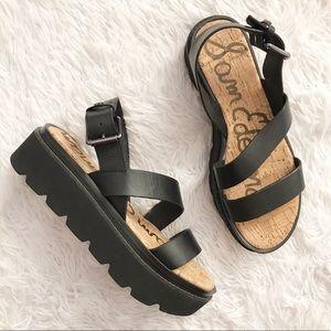 Sam Edelman Rasheed Platform Leather Sandals